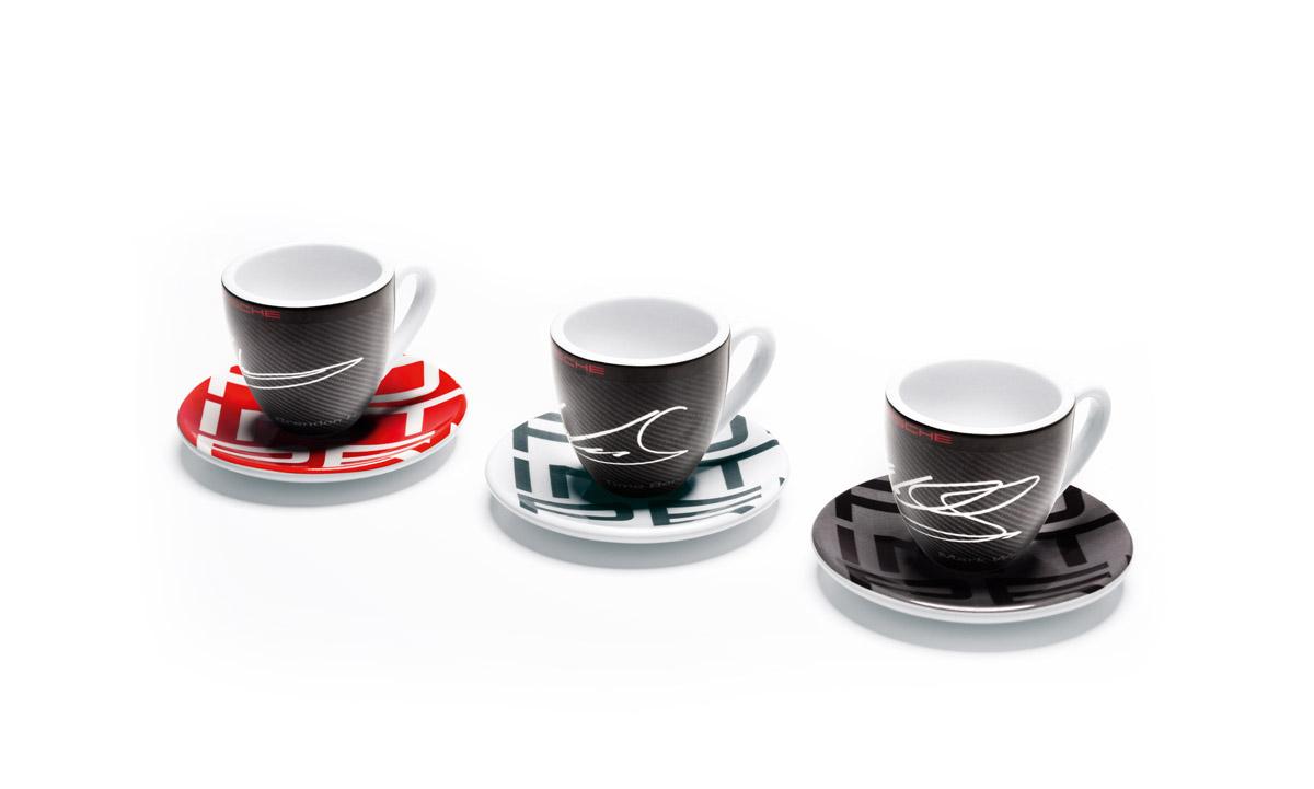 espresso cups set of 3 racing collection racing. Black Bedroom Furniture Sets. Home Design Ideas