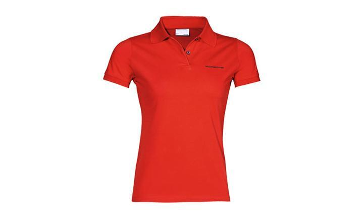 Damen Polo-Shirt, rot