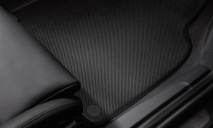 tapis de sol carbone gans s de cuir deux pi ces 911 991 tequipment porsche driver 39 s. Black Bedroom Furniture Sets. Home Design Ideas