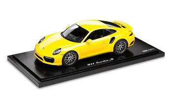 911 Turbo S (991 II), Jaune Porsche Racing 1:18