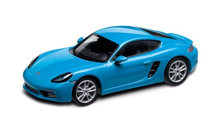 1:43 Model Car | 718 Cayman S in Miami Blue