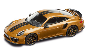 911 Turbo S Exclusive Series – Limited Edition; golden yellow metallic; 1:43