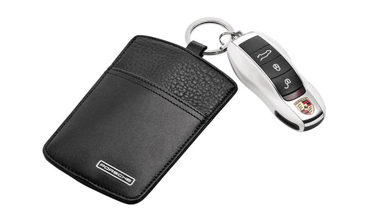 Key Pouch, leather, black