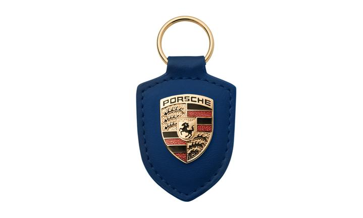 Porsche crest keyring, blue