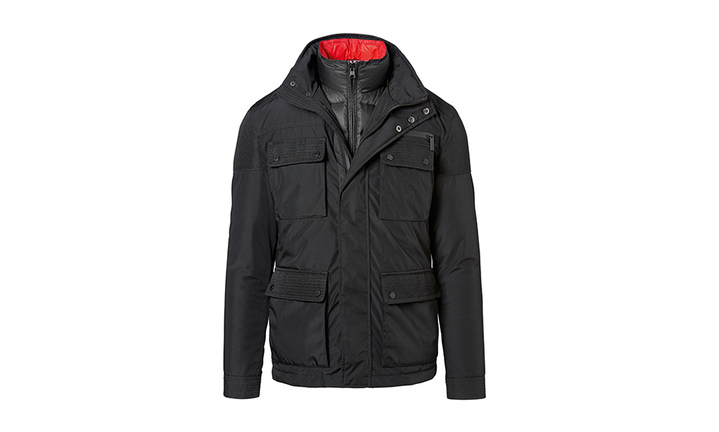Porsche Men's 2 in 1 Jacket in Black and Red (Special Order Only)