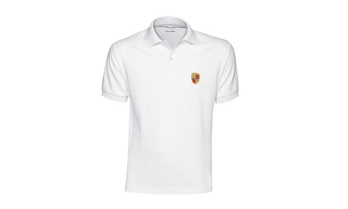 Porsche Men's Classic Crest Polo in White