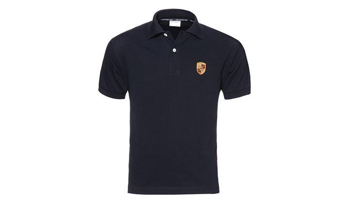 Porsche Men's Classic Crest Polo in Black