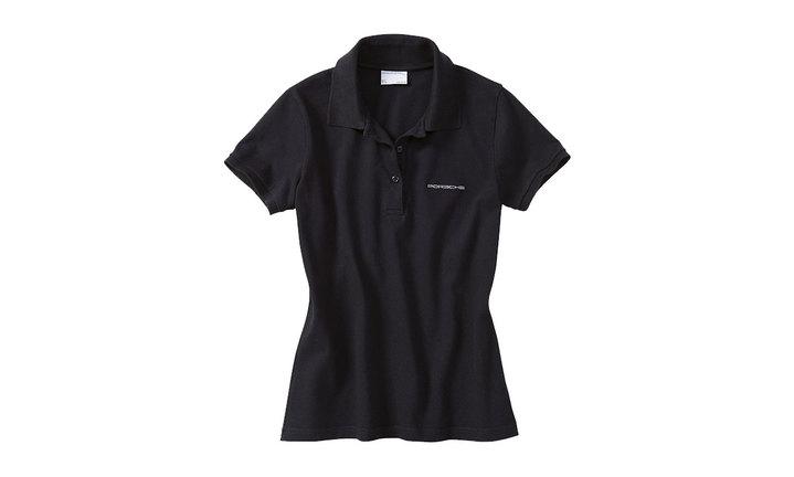 Porsche Classic Logo Ladies' Polo in Black