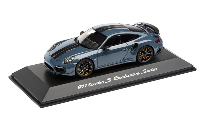 911 Turbo S, Exclusive Series, Graphitblaumetallic, 1:43