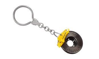 Brake-disc keyring