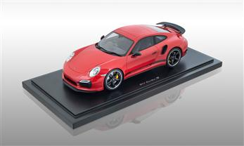 911 (991) Turbo S PCGB, Rouge 1:18