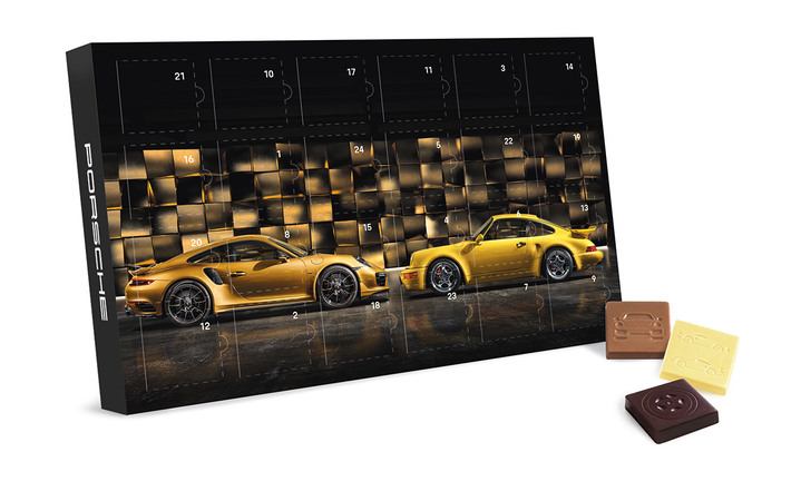 Schokoladen Adventskalender 2017 - Porsche 911 Turbo S Exclusive Series (UVP: 14,90 €)