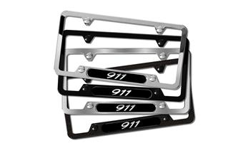 911 Black Stainless Steel License plate frame