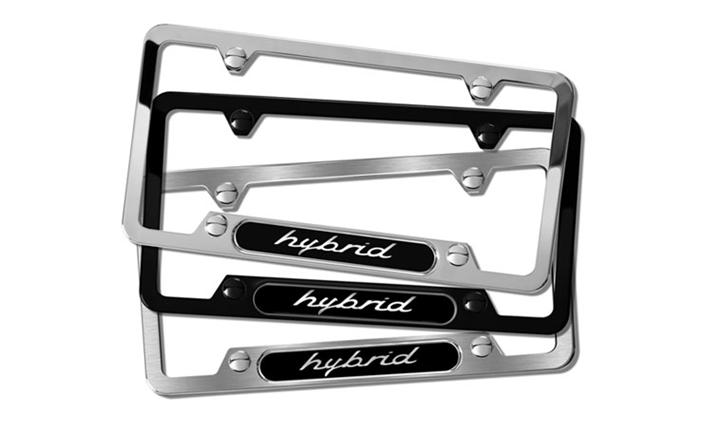 Hybrid Black Stainless Steel License plate frame