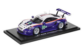 911 RSR, 2018, Rothmans, Resin, white/ blue, black 1:18