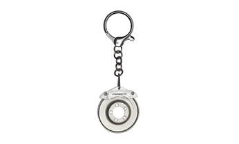 Keyring, Brake Disc, White