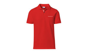 Men's Polo shirt red with lettering