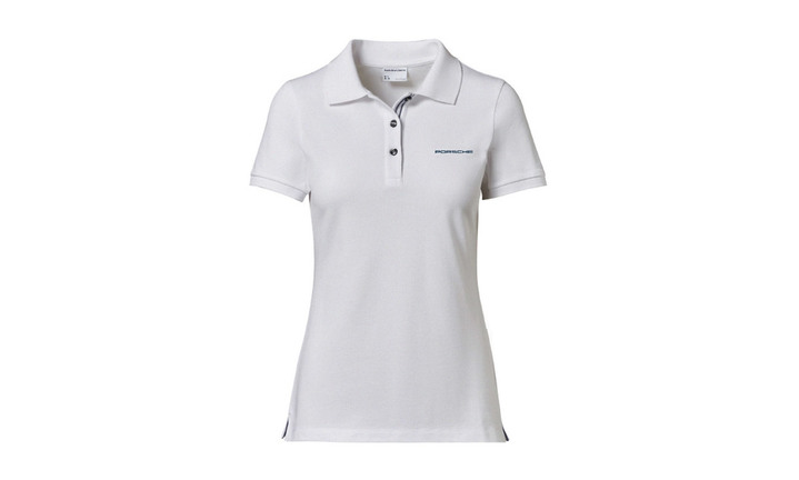 Ladies Polo shirt White with lettering