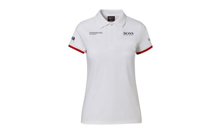 Women's White Replica, Polo-Shirt Motorsports Collection