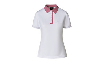 Taycan Collection, Women's White / Rose Polo Shirt