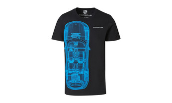 Taycan Collection, Unisex Black / Blue Collector's T-Shirt No.16