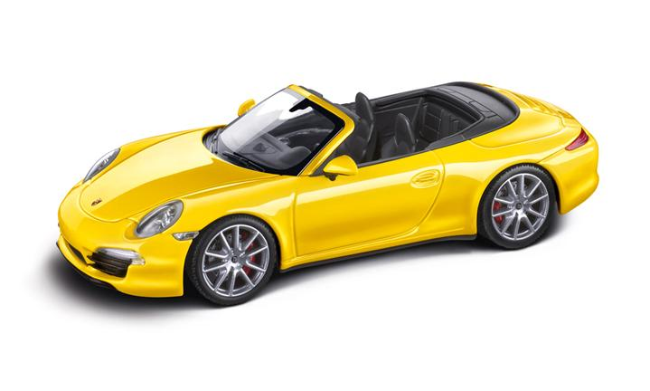 Carrera 4S Convertible (991), racingyellow/black, 1:43