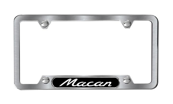 License frame with Macan  script